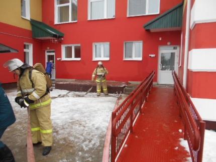 Пожарно-тактическое занятие в детском саду