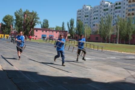 Соревнования по пожарно-прикладжному спорту среди астраханских журналистов