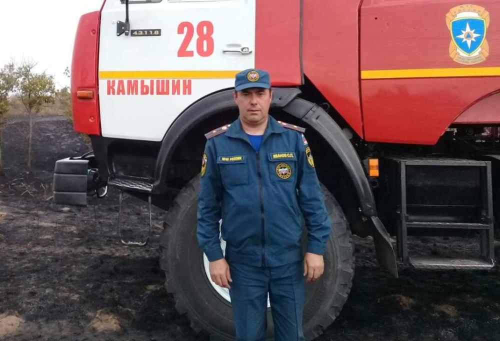 Схватка с огнём: спасатель рассказал о борьбе с пожаром в Дубовском муниципальном районе
