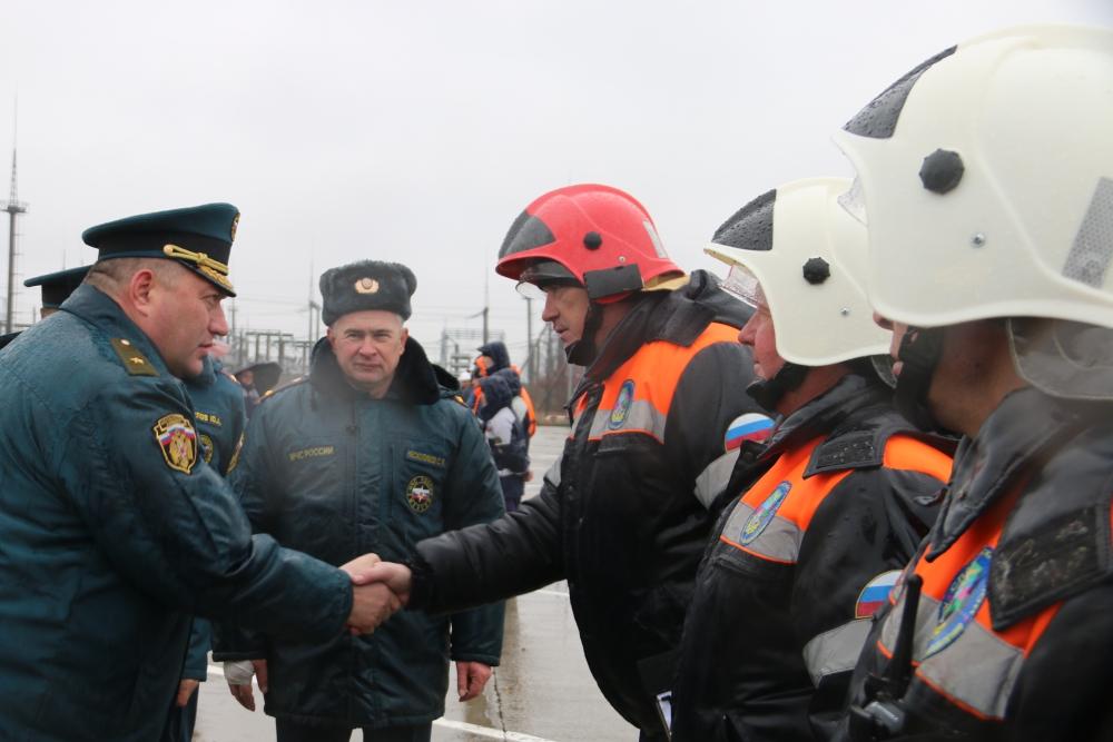 Смотр сил и средств г. Славянск-на-Кубани