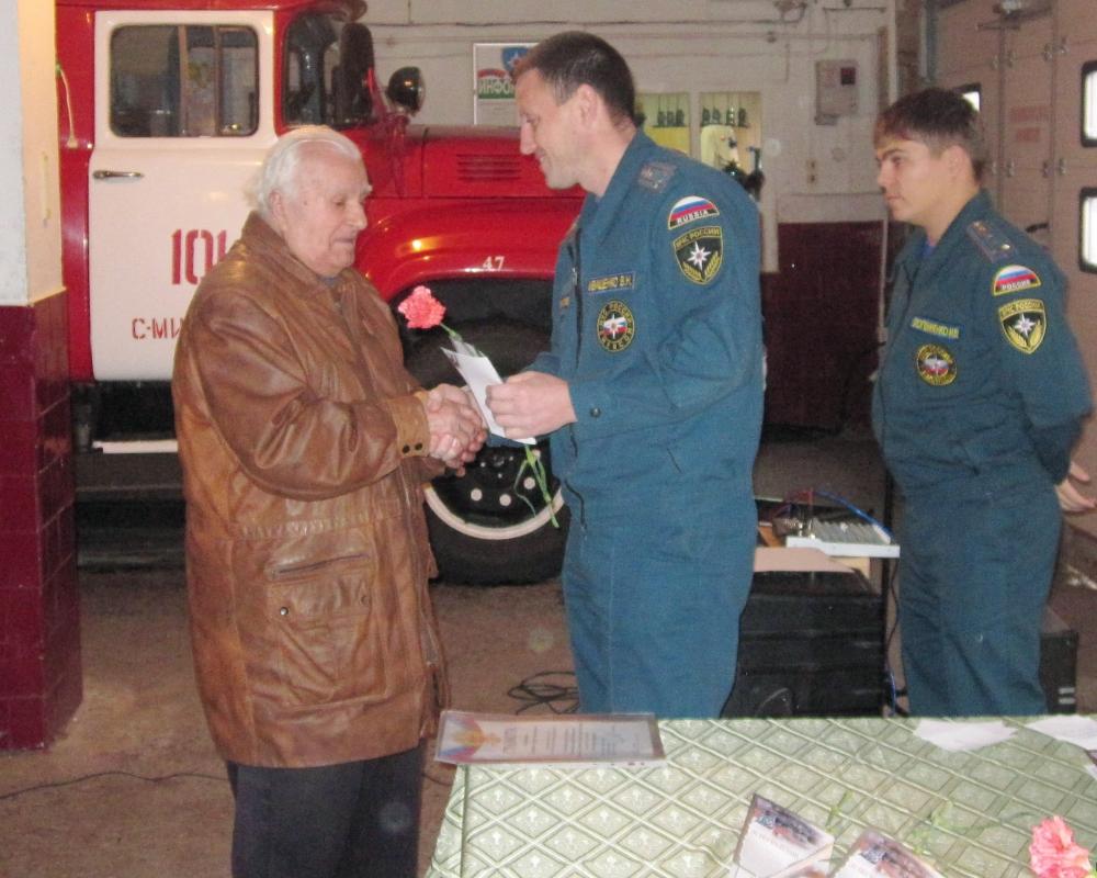 Ветеран пожарной охраны Петр Баланеску отметил свой 90-летний юбилей