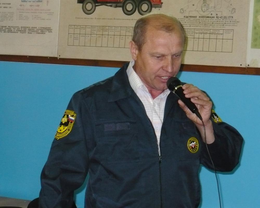 Ветеран пожарной охраны Владимир Илюхин отмечает 62 день рождения