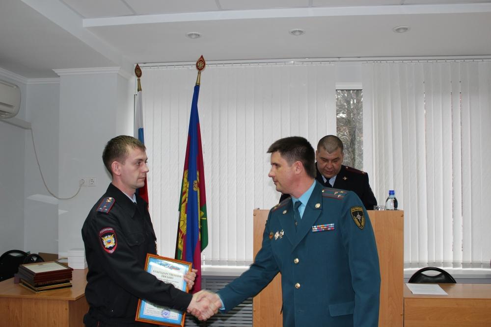 Полицейских Краснодарского края наградили за участие в ликвидации чрезвычайных ситуаций