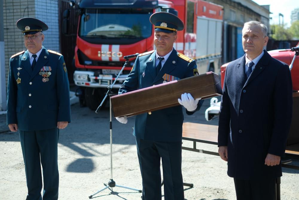 Передача эстафеты пожарного ствола ЦМТО - Учебный центр