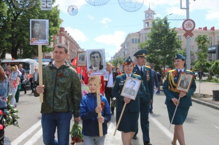 Сотрудники Главного управления приняли участие в шествии «Бессмертного полка»