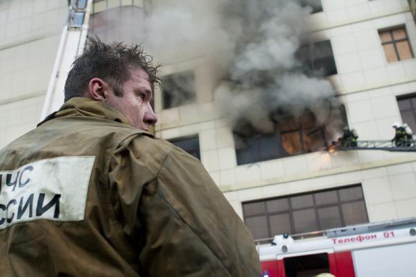 Пожар на Вещевом рынке Краснодара