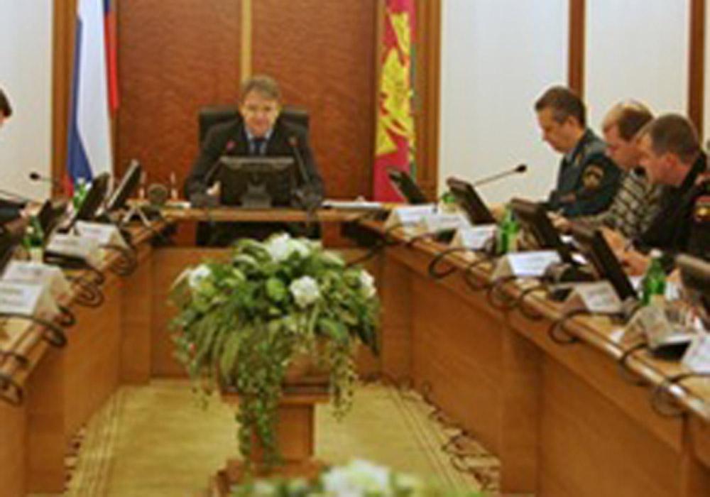 В администрации Краснодарского края состоялось заседание краевой комиссии по ЧС