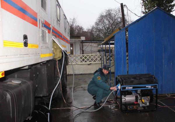 Подвижный пункт ГУ МЧС России по Краснодарскому краю в г.Сочи