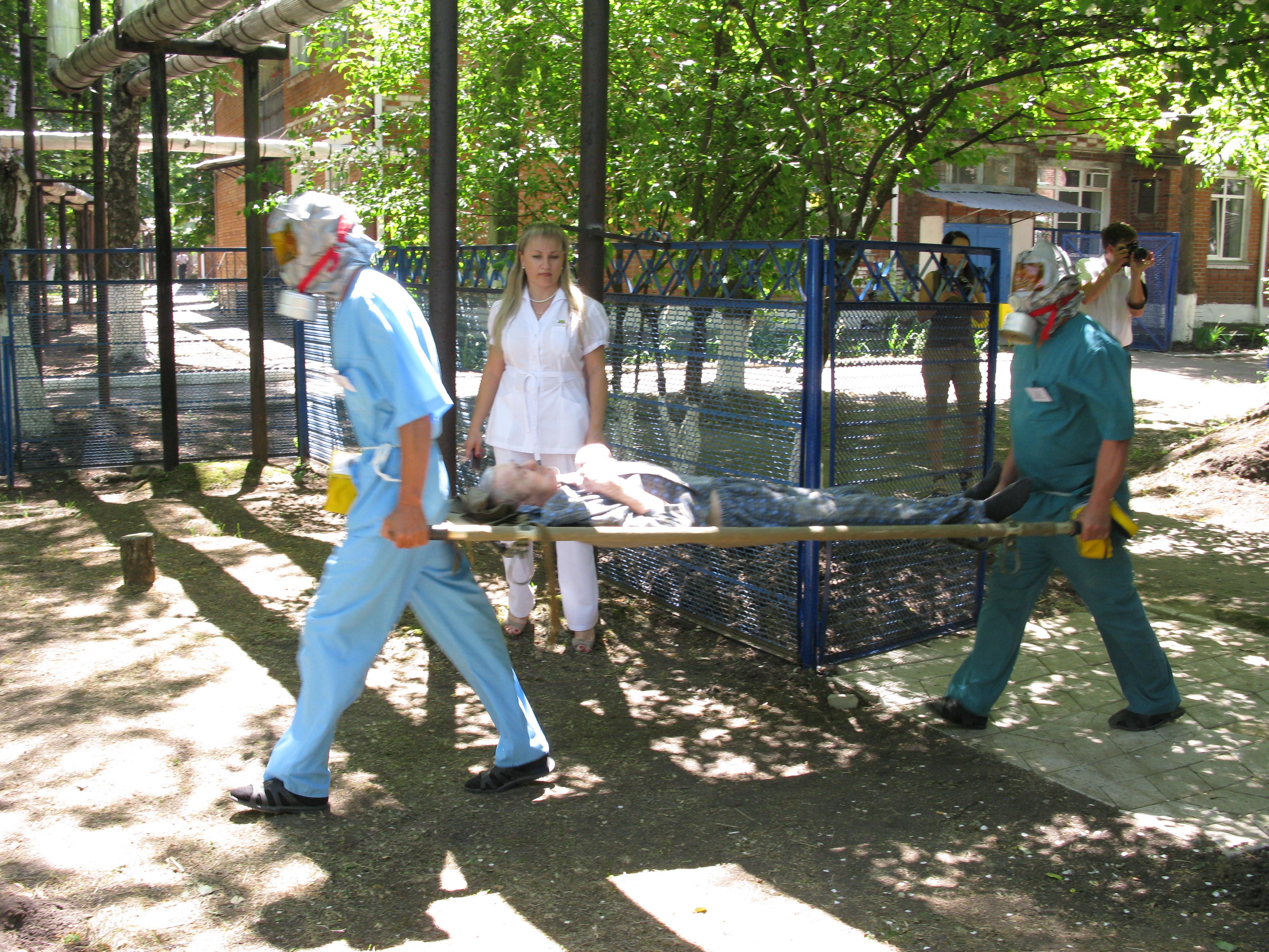 В краевой психиатрической больнице прошли пожарно - тактические учения