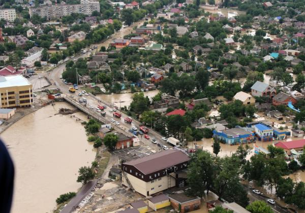 Спасательная операция в Крымском районе, 2012г.