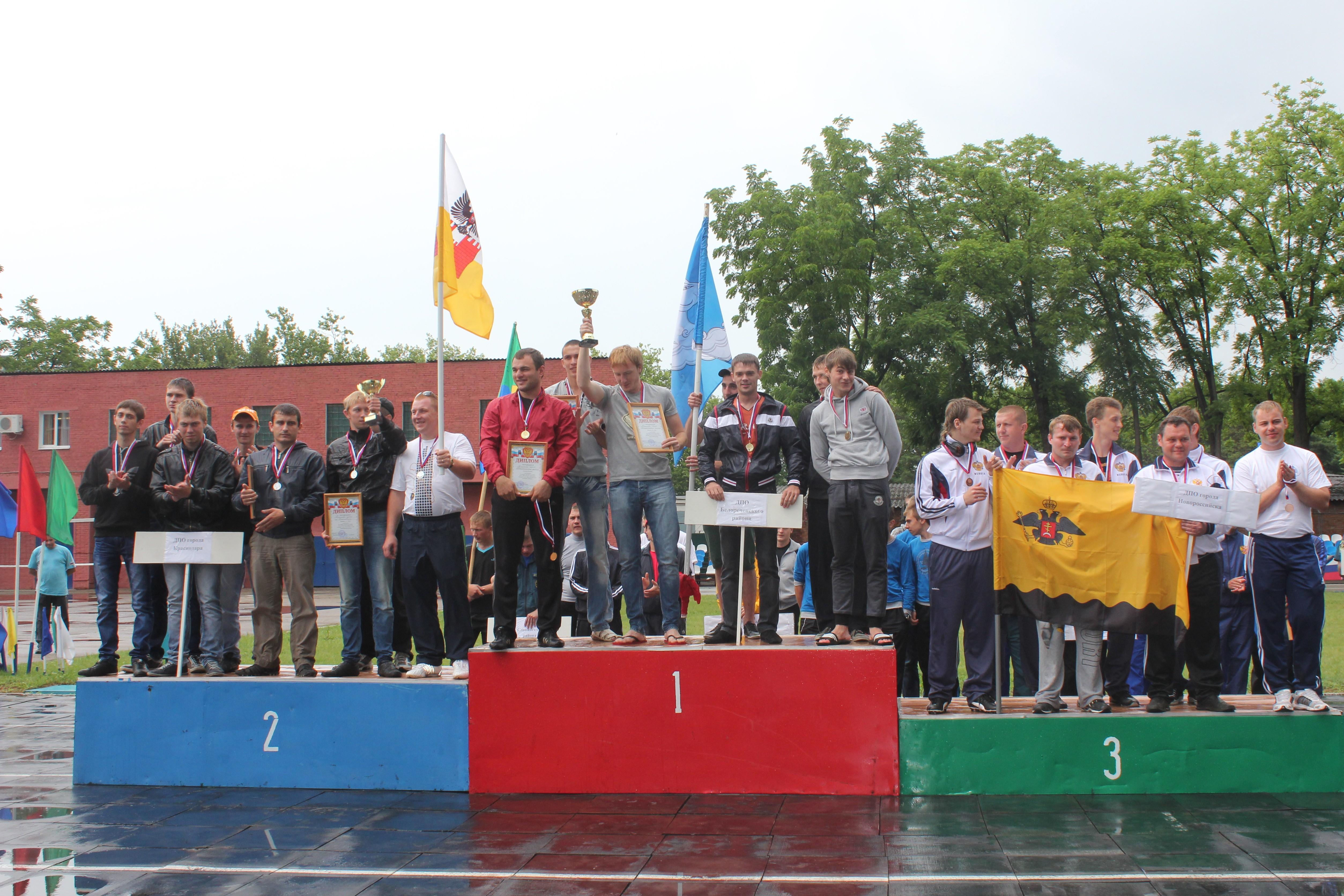 В г.Краснодаре прошли соревнования по пожарно-прикладному спорту среди добровольных пожарных