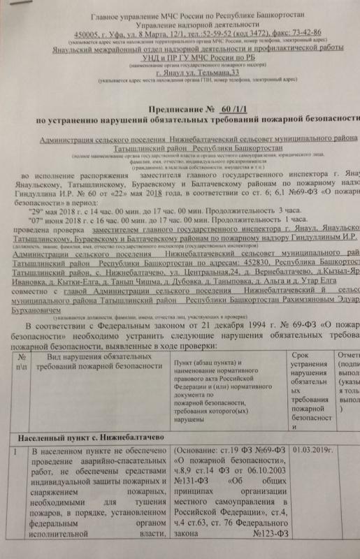 Сельское поселение Нижнебалтачевский сельсовет Татышлинского района