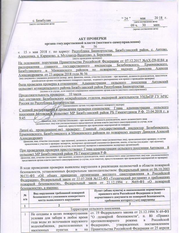 Сельское поселение Аитовский сельсовет Бижбулякского района