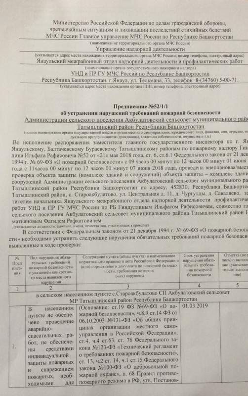 Сельское поселение Акбулатовский сельсовет Татышлинского района