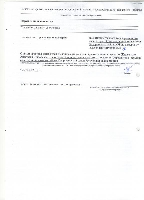 Сельское поселение Отрадинский сельсовет Куюргазинского района