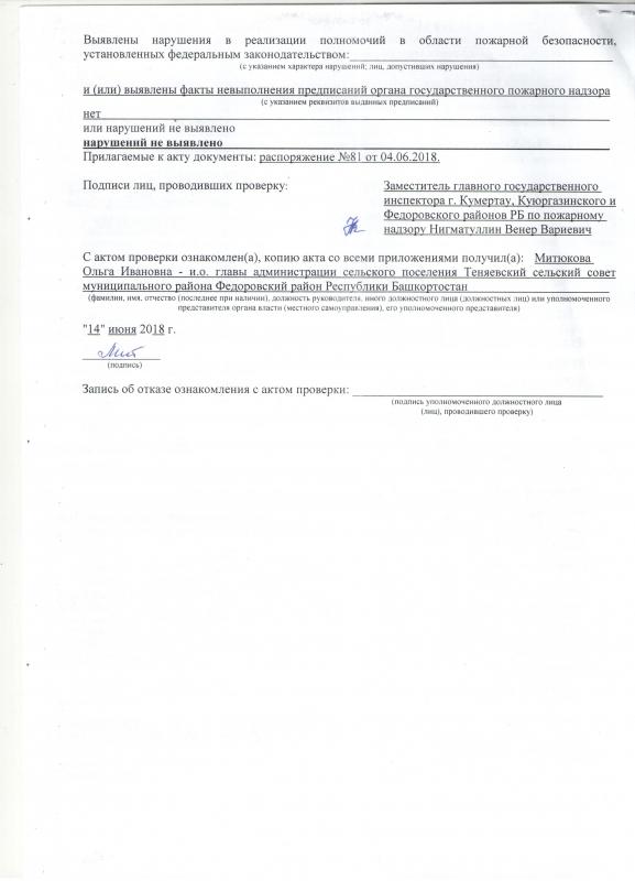 Сельское поселение Теняевский сельсовет Федоровского района
