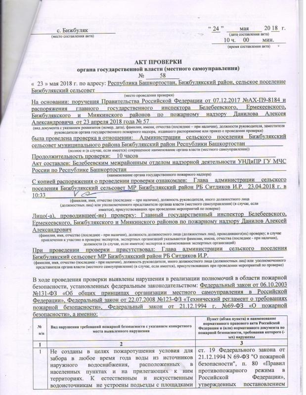 Сельское поселение Бижбулякский сельсовет Бижбулякского района