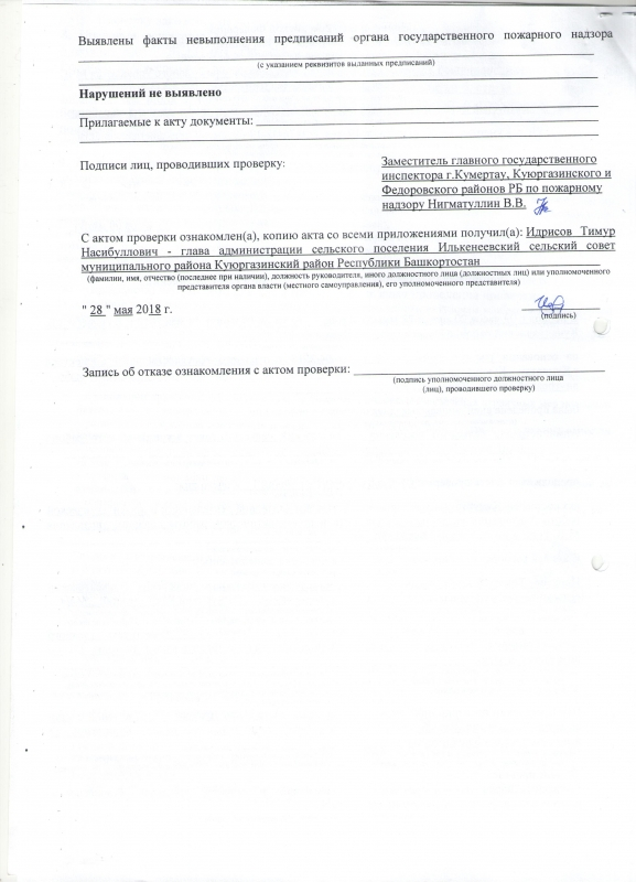 Сельское поселение Илькенеевский сельсовет Куюргазинского района
