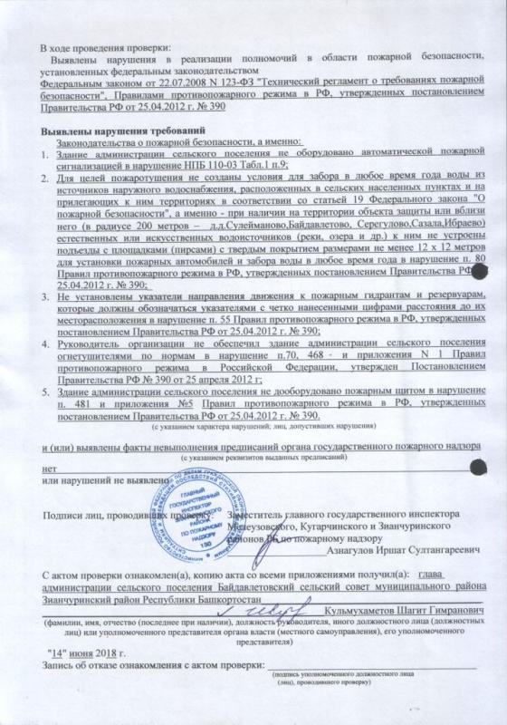 Сельское поселение Байдавлетовский сельсовет Зианчуринского района