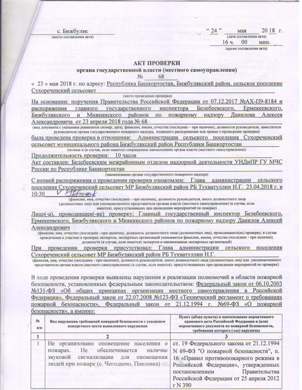 Сельское поселение Сухореченский сельсовет Бижбулякского района