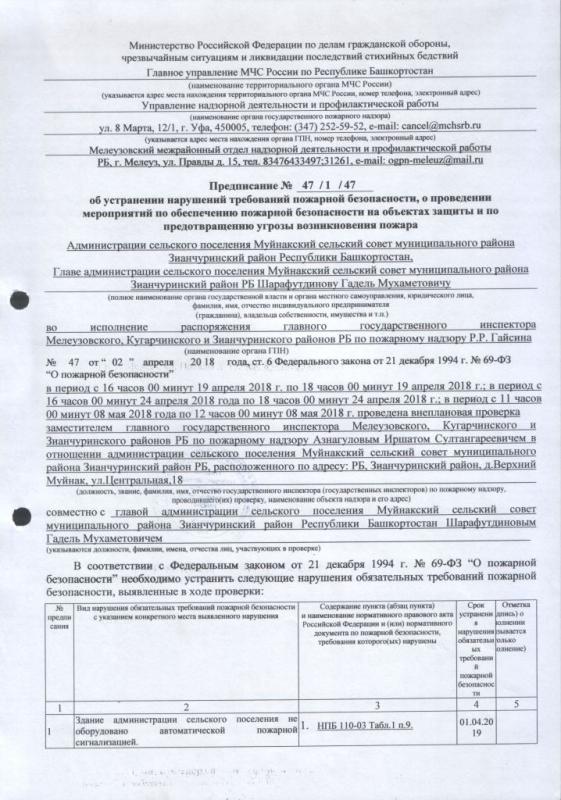 Сельское поселение Муйнакский сельсовет Зианчуринского района