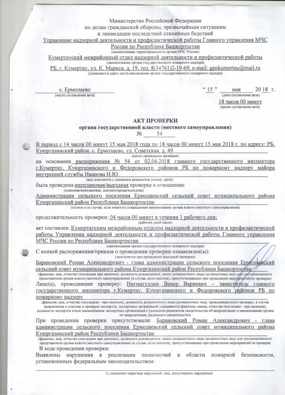 Сельское поселение Ермолаевский сельсовет Куюргазинского района
