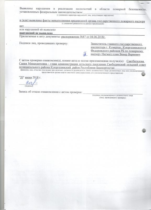 Сельское поселение Свободинский сельсовет Куюргазинского района