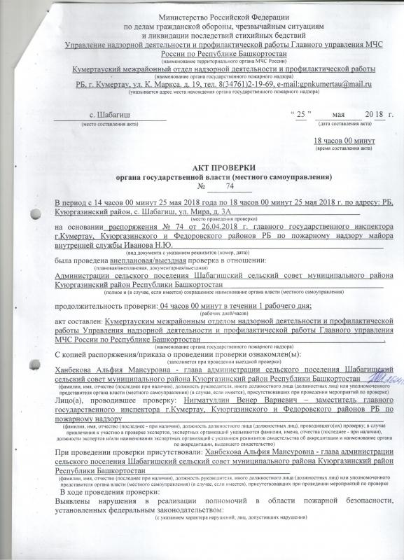 Сельское поселение Шабагишский сельсовет Куюргазинского района