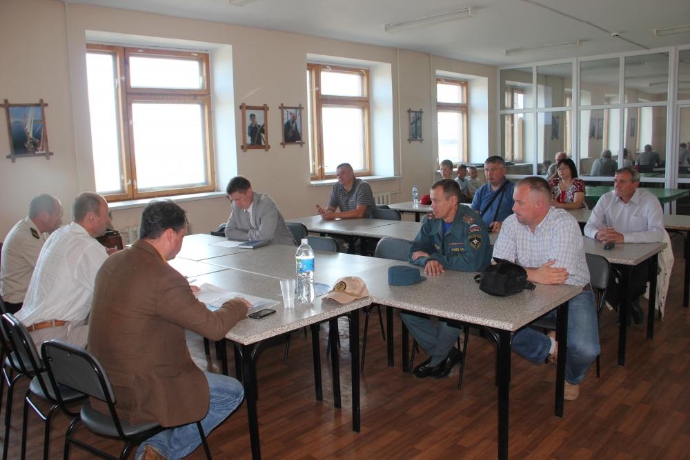 Тактико-специальные учения в речном порту города Козьмодемьянска