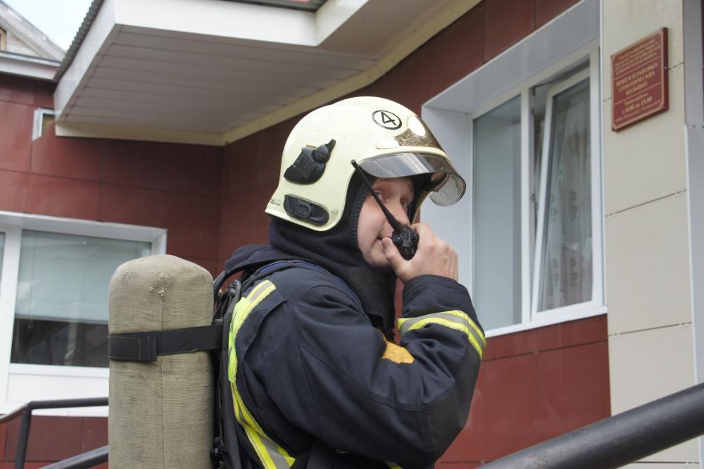 Пожарно-тактические учения в детской республиканской больнице
