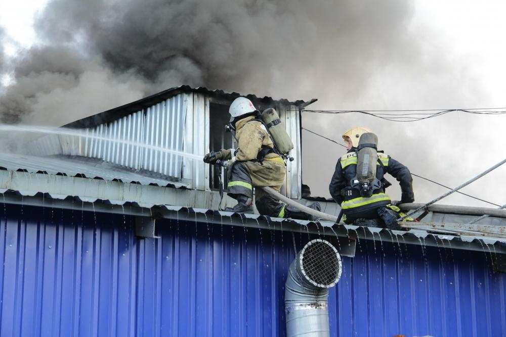 Пожар в малярном цехе в Йошкар-Оле