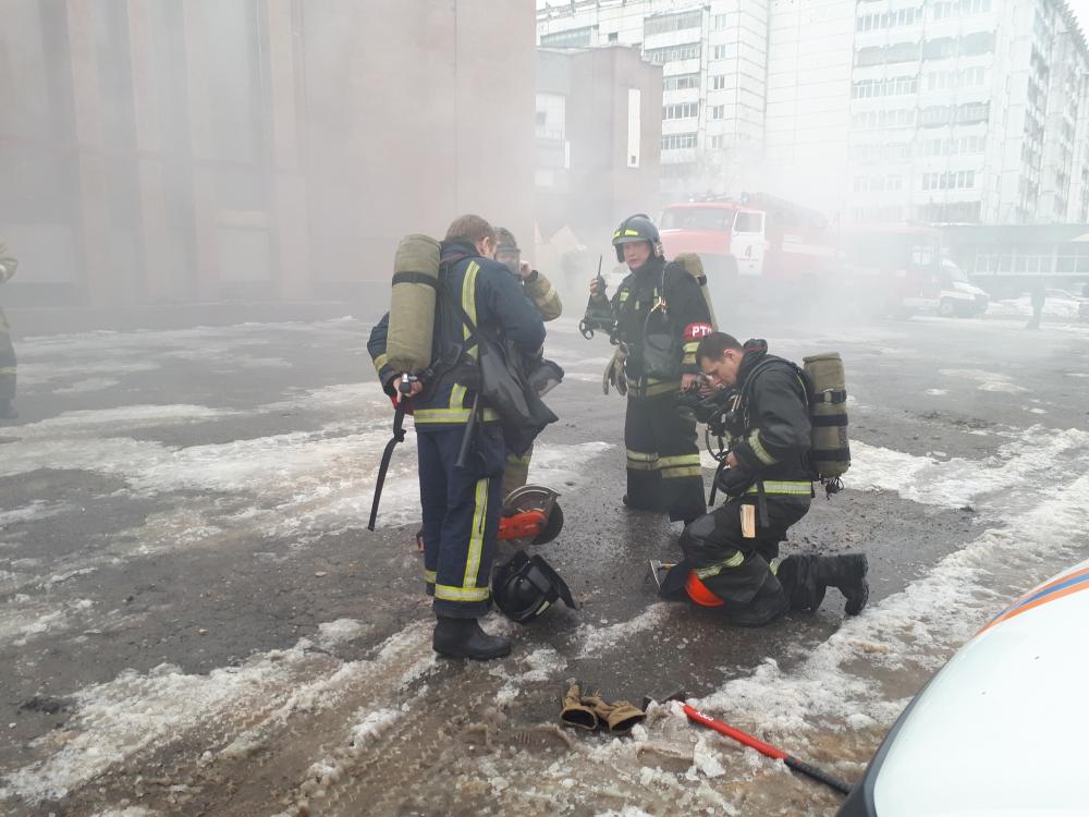 Тактико-специальные учения по взрыву газа в Йошкар-Оле