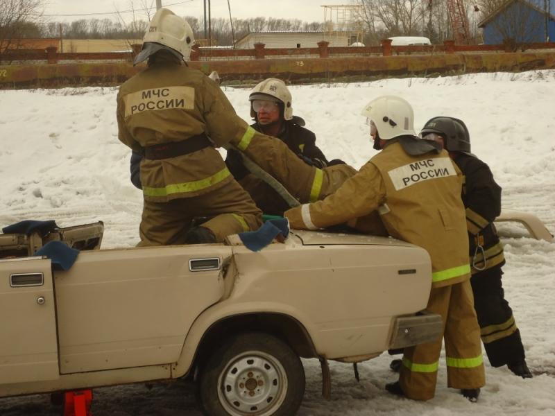 Соревнования по проведению аварийно-спасательных работ при ДТП