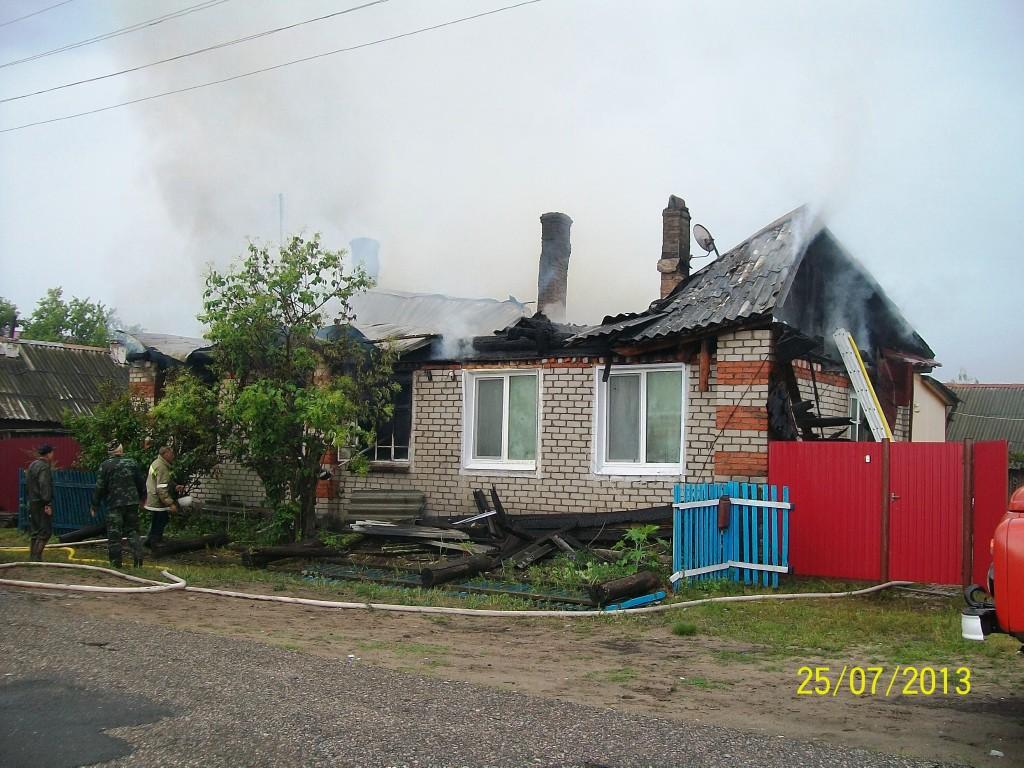 Пожар в п.Суслонгер Звениговского района