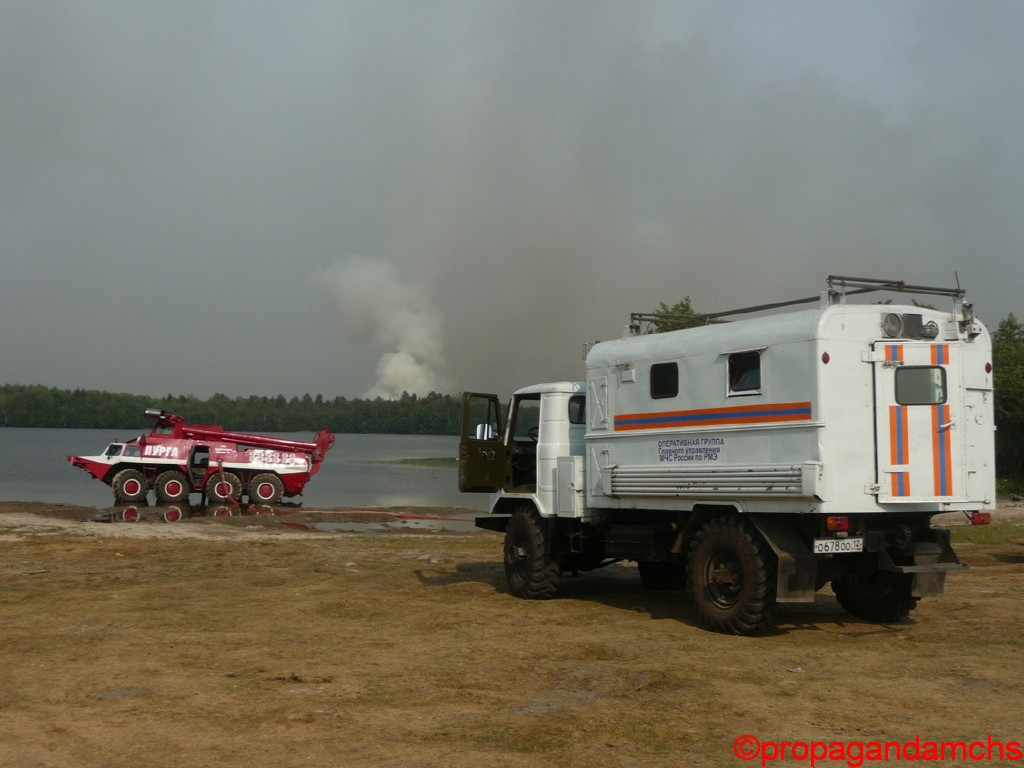 Лесной пожар в Килемарском районе. Село Куплонга.