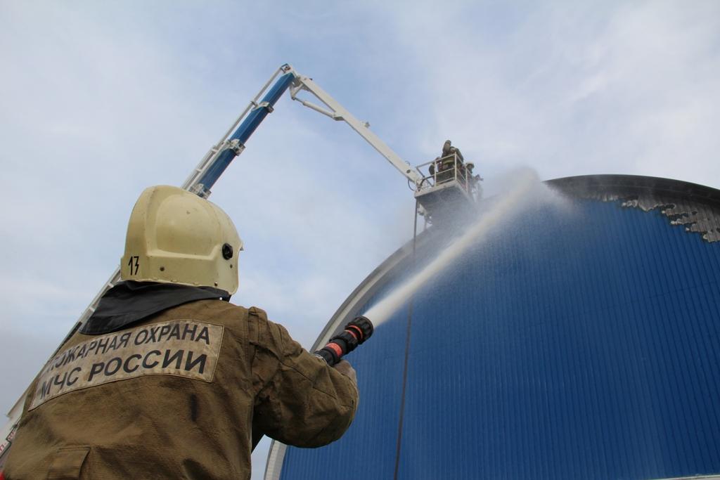 Пожар в ФОК «Спартак»