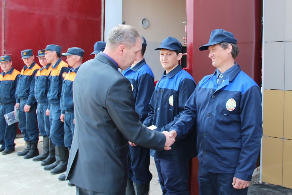 Открытие пожарного поста в селе Кокшамары