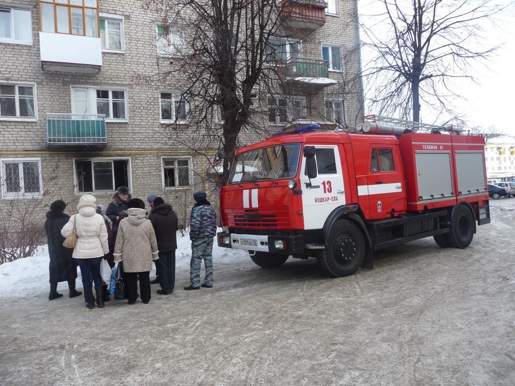 Пожар в Йошкар-Оле на бульваре Победы