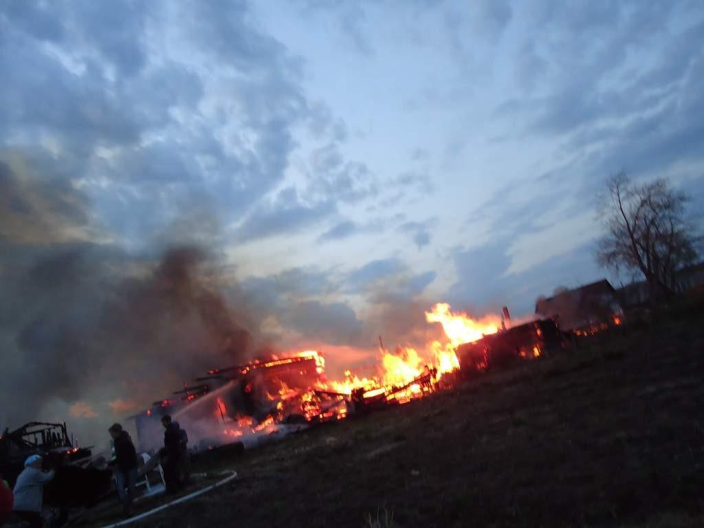 Пожар в пос.Килемары