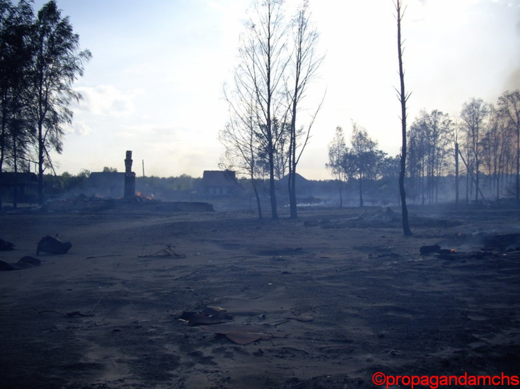Пожар в поселке Ленинский Юринского района уничтожил 8 строений