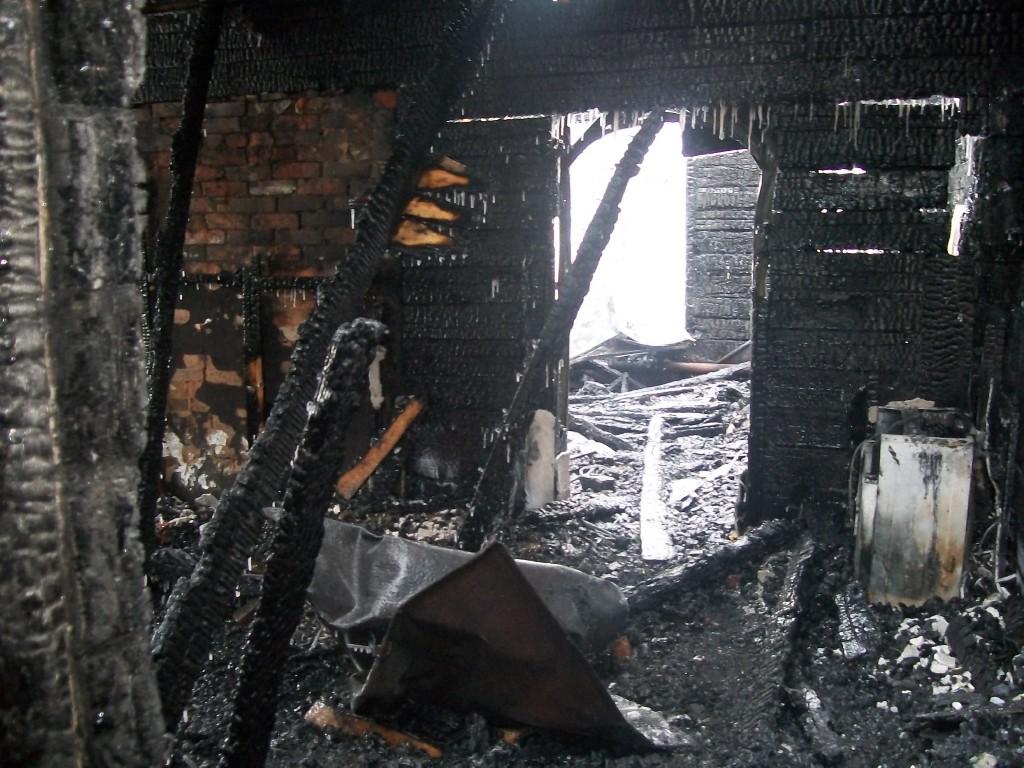 Пожар в пос. Красногорский Звениговского района