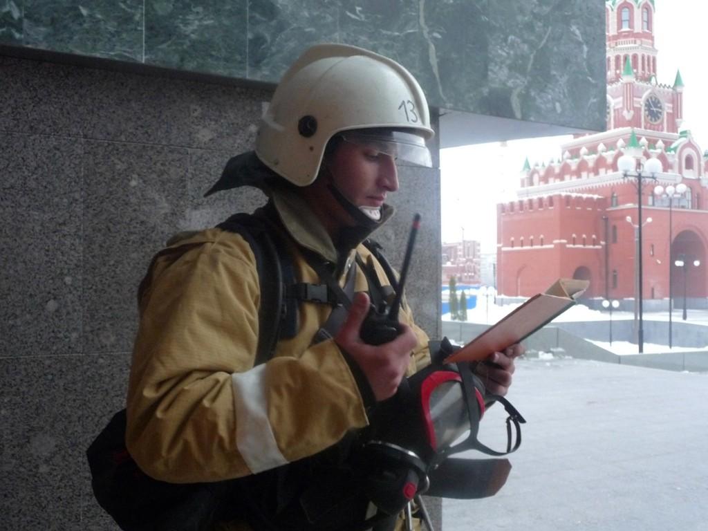 Пожарно-тактические учения в Академическом русском театре драмы им. Г.Константинова