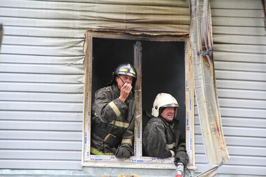 Пожар на улице Железнодорожной в Йошкар-Оле