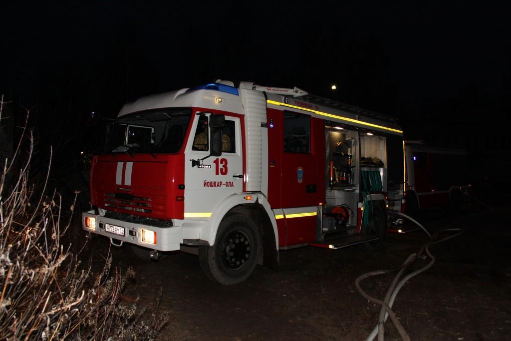 Пожар на ул.Степана Разина в г.Йошкар-Оле