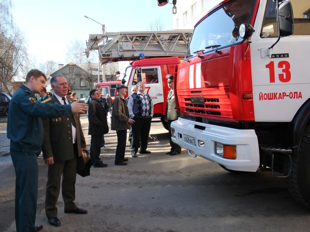 Поздравление ветеранов пожарной охраны