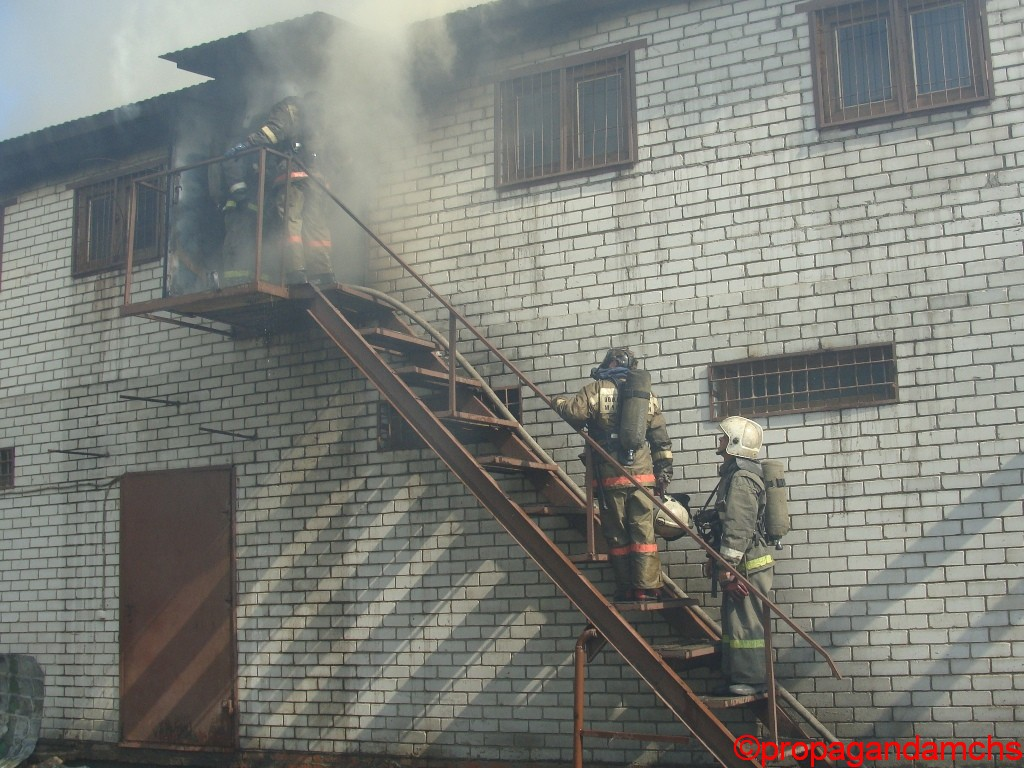 Пожар на пилораме ул. Крылова 53