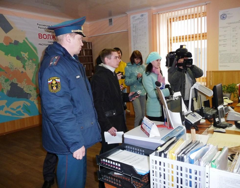 Журналисты в ПЧ-12 города Волжска