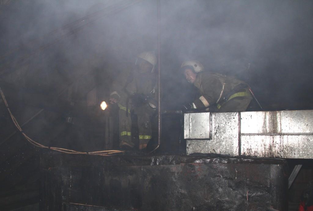 Пожар в бане №4 в г.Йошкар-Оле