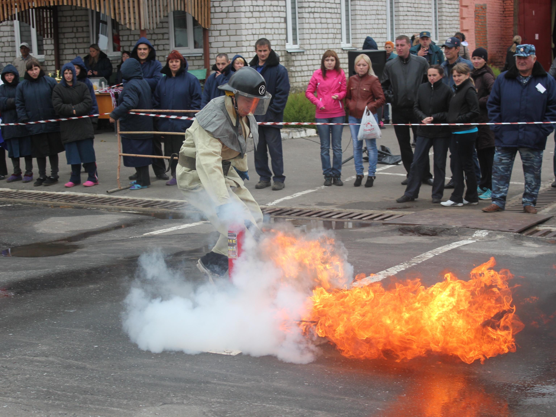 Соревнования добровольных пожарных ММЗ