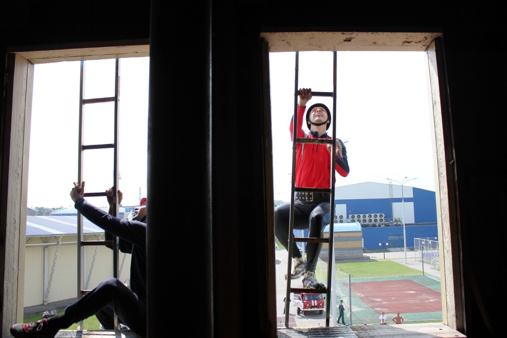 Соревнования по пожарно-прикладному спорту в рамках Спартакиады Главного управления